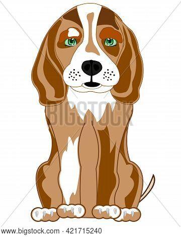 Sitting Dog Of The Sort Beagle Cartoon
