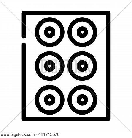 Lenses Set Of Different Colors Line Icon Vector. Lenses Set Of Different Colors Sign. Isolated Conto
