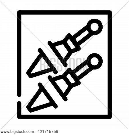 Knife Pocket Line Icon Vector. Knife Pocket Sign. Isolated Contour Symbol Black Illustration