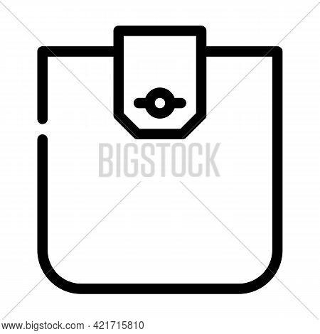 Flap Pocket Line Icon Vector. Flap Pocket Sign. Isolated Contour Symbol Black Illustration