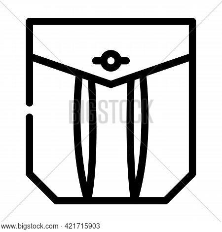 Pleated Pocket Line Icon Vector. Pleated Pocket Sign. Isolated Contour Symbol Black Illustration
