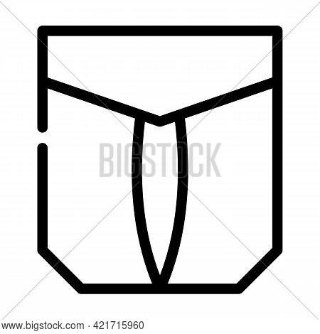 Outside Pocket Line Icon Vector. Outside Pocket Sign. Isolated Contour Symbol Black Illustration