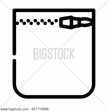 Coins Storage Pocket Line Icon Vector. Coins Storage Pocket Sign. Isolated Contour Symbol Black Illu