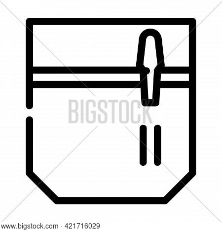 Pencil And Pen Carrying Pocket Line Icon Vector. Pencil And Pen Carrying Pocket Sign. Isolated Conto