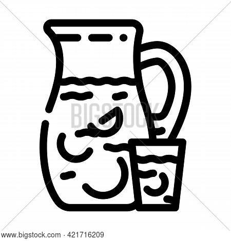 Fabada Spain Food Line Icon Vector. Fabada Spain Food Sign. Isolated Contour Symbol Black Illustrati
