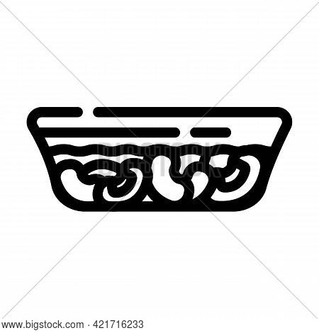 Horchata Spain Drink Line Icon Vector. Horchata Spain Drink Sign. Isolated Contour Symbol Black Illu