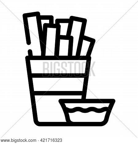 Paella Spain Meal Line Icon Vector. Paella Spain Meal Sign. Isolated Contour Symbol Black Illustrati