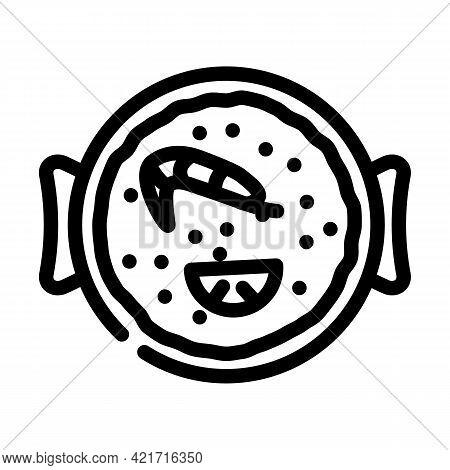 Churros Spain Snack Line Icon Vector. Churros Spain Snack Sign. Isolated Contour Symbol Black Illust