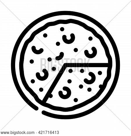 Omelet Spanish Dish Line Icon Vector. Omelet Spanish Dish Sign. Isolated Contour Symbol Black Illust