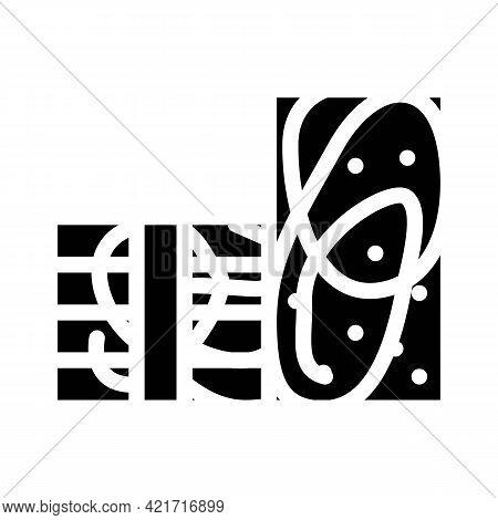 Styrofoam Building Material Glyph Icon Vector. Styrofoam Building Material Sign. Isolated Contour Sy
