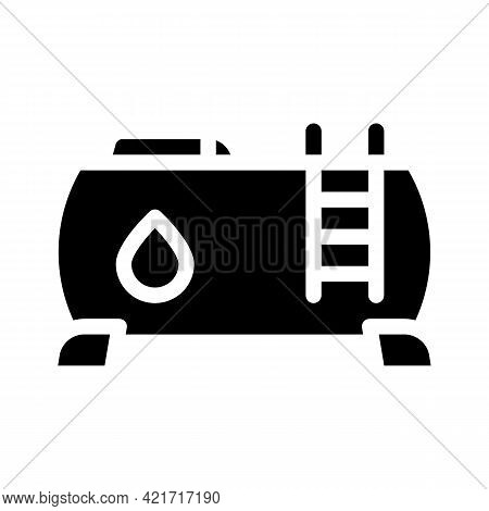 Water Building Material Glyph Icon Vector. Water Building Material Sign. Isolated Contour Symbol Bla