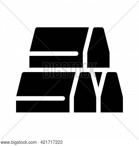 Curbs Building Material Glyph Icon Vector. Curbs Building Material Sign. Isolated Contour Symbol Bla