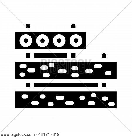 Concrete Plates Building Material Glyph Icon Vector. Concrete Plates Building Material Sign. Isolate