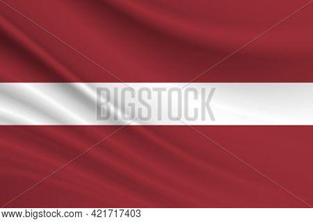 Flag Of Latvia Fabric Texture Of The Flag Of Latvia.