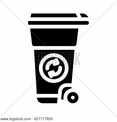 Waste Tank Compost Glyph Icon Vector. Waste Tank Compost Sign. Isolated Contour Symbol Black Illustr