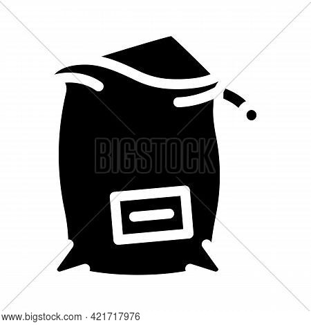 Bag Compost Glyph Icon Vector. Bag Compost Sign. Isolated Contour Symbol Black Illustration