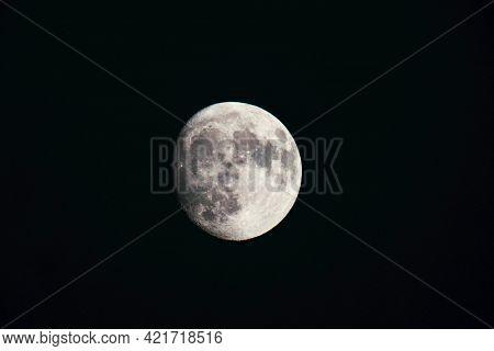 Closeup of the Lunar Moon
