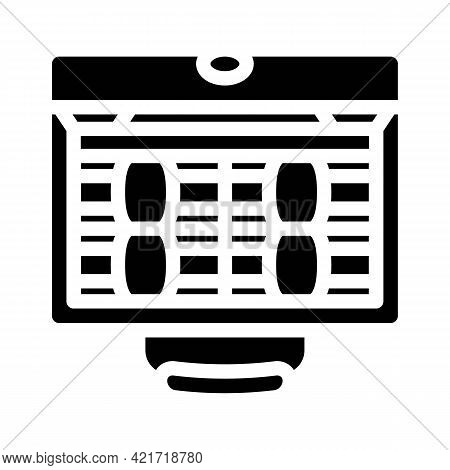 Suitcase Full Of Money Glyph Icon Vector. Suitcase Full Of Money Sign. Isolated Contour Symbol Black