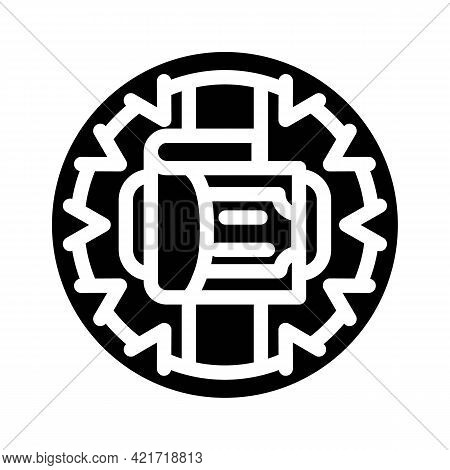 Money Trap Glyph Icon Vector. Money Trap Sign. Isolated Contour Symbol Black Illustration