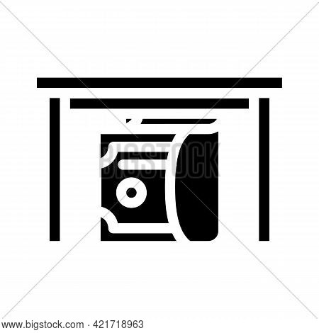Give Bribe Glyph Icon Vector. Give Bribe Sign. Isolated Contour Symbol Black Illustration