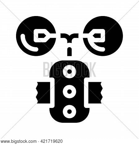 Stimulant Device Glyph Icon Vector. Stimulant Device Sign. Isolated Contour Symbol Black Illustratio