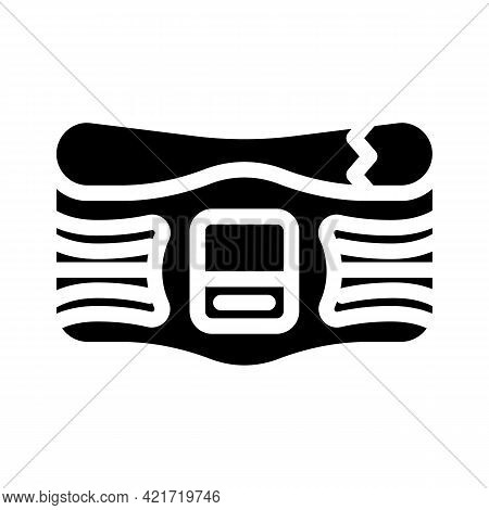 Belt Stimulator Glyph Icon Vector. Belt Stimulator Sign. Isolated Contour Symbol Black Illustration