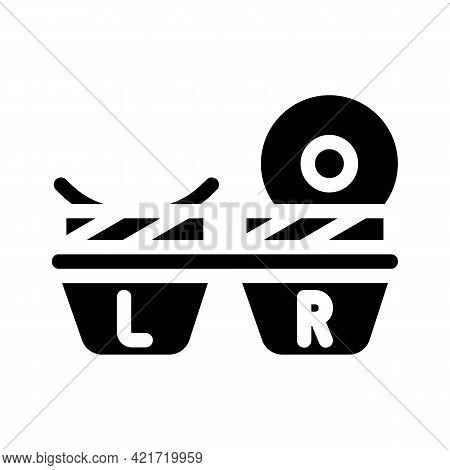 Lens Container Glyph Icon Vector. Lens Container Sign. Isolated Contour Symbol Black Illustration