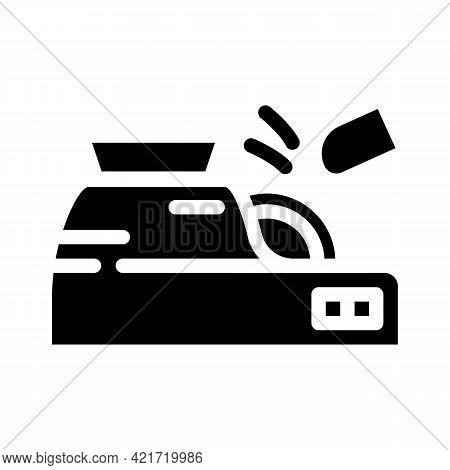 Lens Treatment Device Glyph Icon Vector. Lens Treatment Device Sign. Isolated Contour Symbol Black I