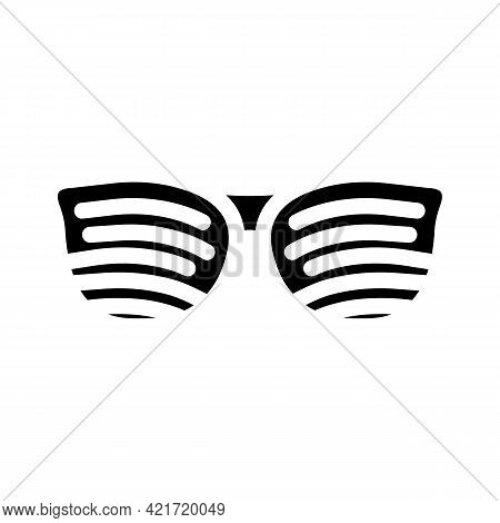 Perforated Glasses Glyph Icon Vector. Perforated Glasses Sign. Isolated Contour Symbol Black Illustr