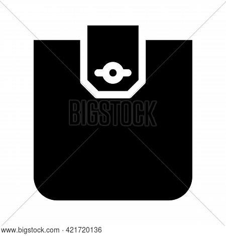 Flap Pocket Glyph Icon Vector. Flap Pocket Sign. Isolated Contour Symbol Black Illustration