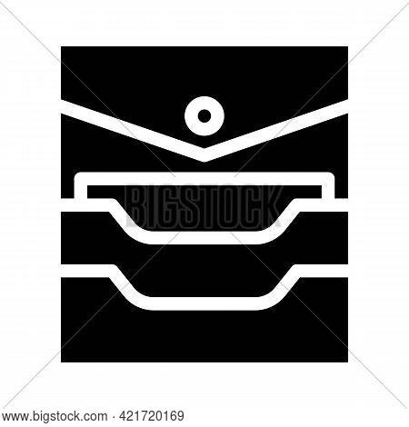 Credit Card Storage Pocket Glyph Icon Vector. Credit Card Storage Pocket Sign. Isolated Contour Symb