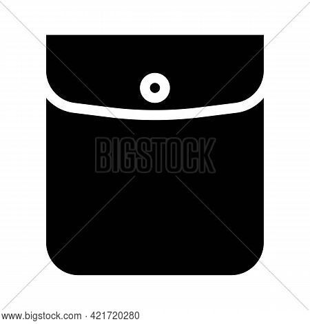 Button Closed Pocket Glyph Icon Vector. Button Closed Pocket Sign. Isolated Contour Symbol Black Ill