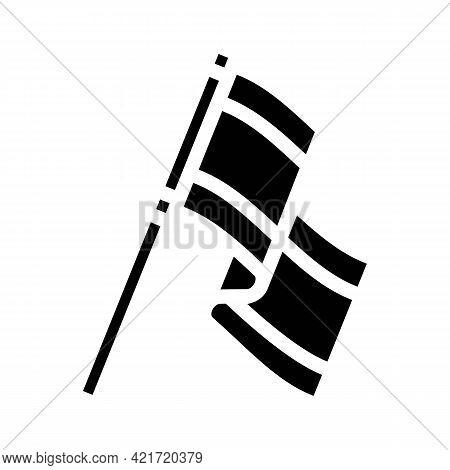 Blazon Spain Glyph Icon Vector. Blazon Spain Sign. Isolated Contour Symbol Black Illustration