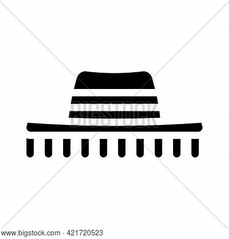 Hat Spain Glyph Icon Vector. Hat Spain Sign. Isolated Contour Symbol Black Illustration