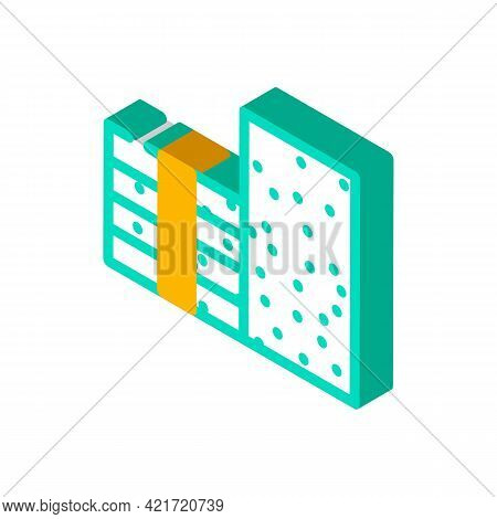 Styrofoam Building Material Isometric Icon Vector. Styrofoam Building Material Sign. Isolated Symbol