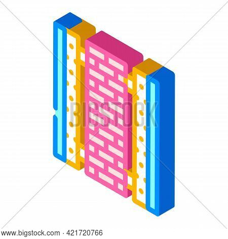 Ready Construction Building Material Isometric Icon Vector. Ready Construction Building Material Sig