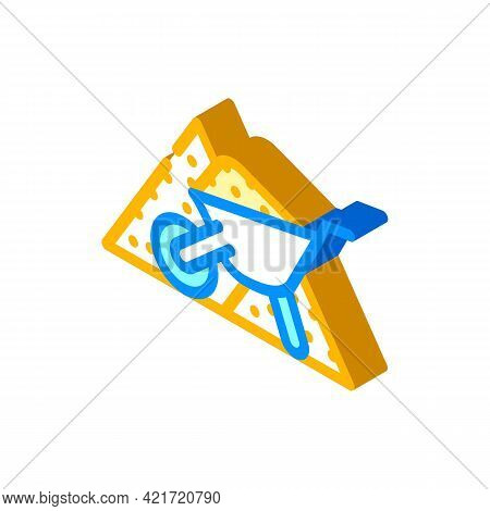 Sand Building Material Isometric Icon Vector. Sand Building Material Sign. Isolated Symbol Illustrat