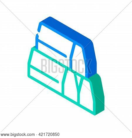 Curbs Building Material Isometric Icon Vector. Curbs Building Material Sign. Isolated Symbol Illustr