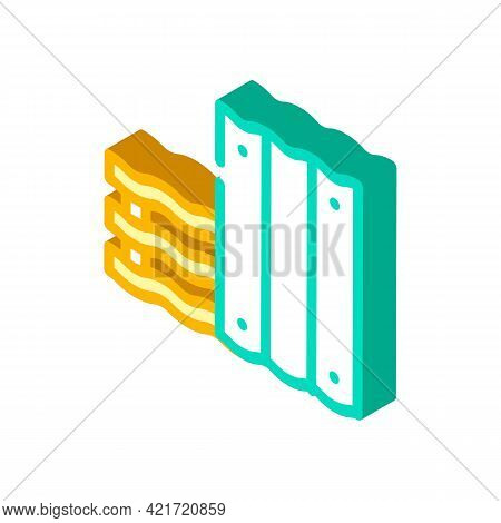 Roofing Material Building Material Isometric Icon Vector. Roofing Material Building Material Sign. I