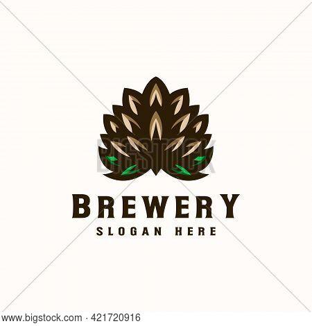 Vintage Brewery Logo Template Logo Design. Vector Illustration