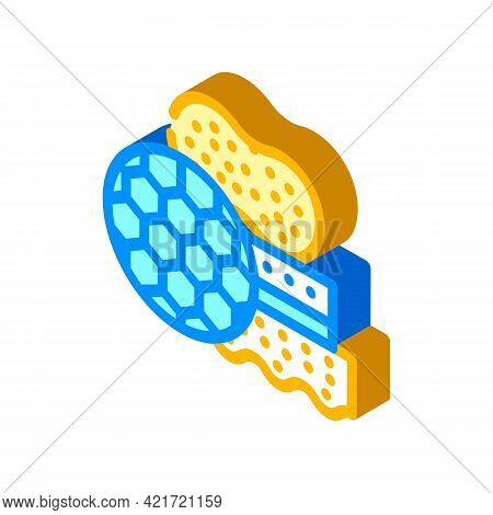 Different Sponges For Car Polishing Isometric Icon Vector. Different Sponges For Car Polishing Sign.