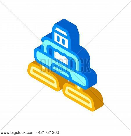 Electrical Device For Car Polishing Isometric Icon Vector. Electrical Device For Car Polishing Sign.