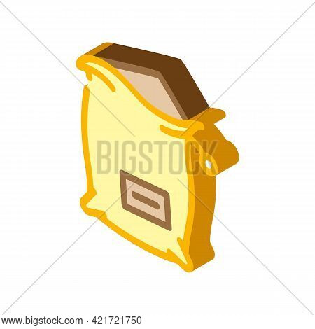 Bag Compost Isometric Icon Vector. Bag Compost Sign. Isolated Symbol Illustration