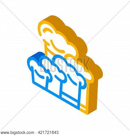Chef Hats Isometric Icon Vector. Chef Hats Sign. Isolated Symbol Illustration