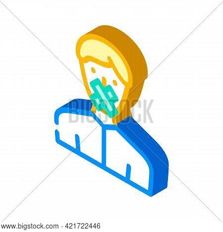 Closed Money Isometric Icon Vector. Closed Money Sign. Isolated Symbol Illustration
