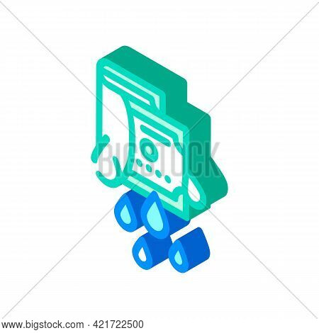 Money Laundering Isometric Icon Vector. Money Laundering Sign. Isolated Symbol Illustration