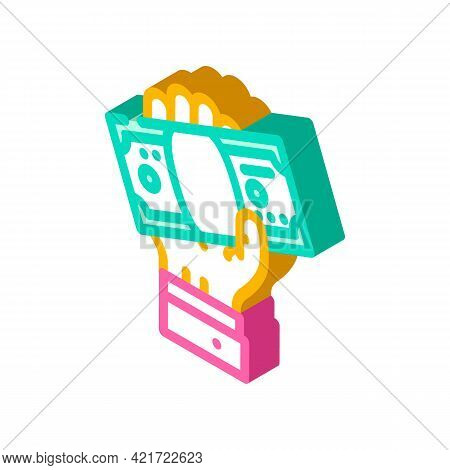 Giving Bribe Isometric Icon Vector. Giving Bribe Sign. Isolated Symbol Illustration