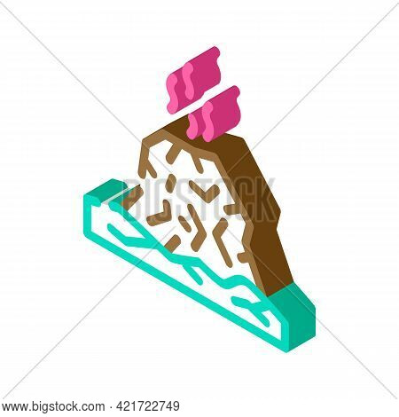 Eruption Disaster Isometric Icon Vector. Eruption Disaster Sign. Isolated Symbol Illustration
