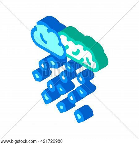 Hail Disaster Isometric Icon Vector. Hail Disaster Sign. Isolated Symbol Illustration