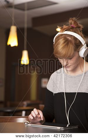 Young Woman With Headphones